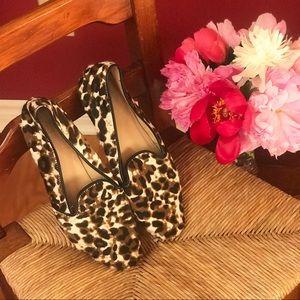 J Crew Cora Leopard Print Loafers Size 10
